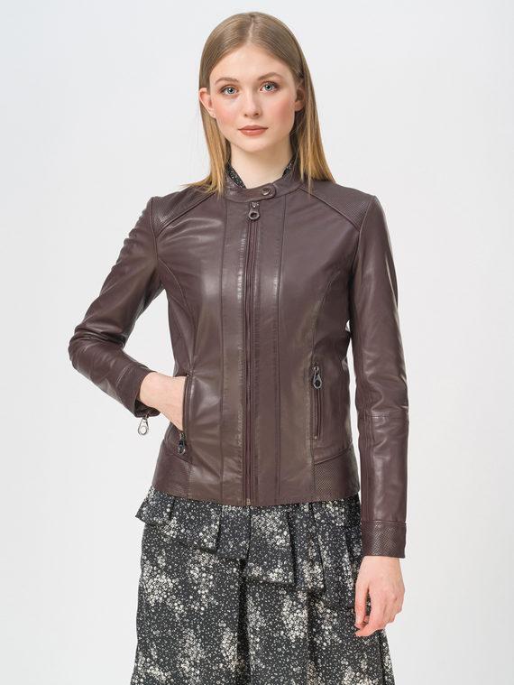 Кожаная куртка кожа, цвет бордо, арт. 04802478  - цена 7990 руб.  - магазин TOTOGROUP