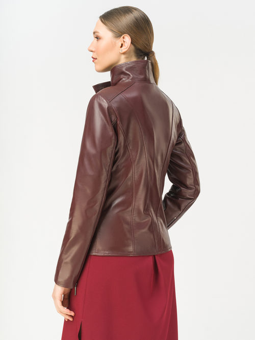 Кожаная куртка артикул 04802499/44 - фото 3