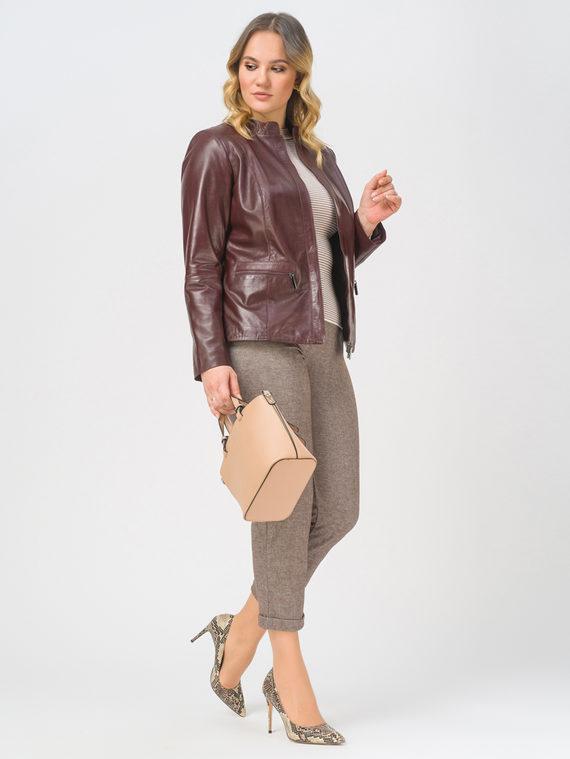 Кожаная куртка кожа, цвет бордо, арт. 04802511  - цена 14190 руб.  - магазин TOTOGROUP