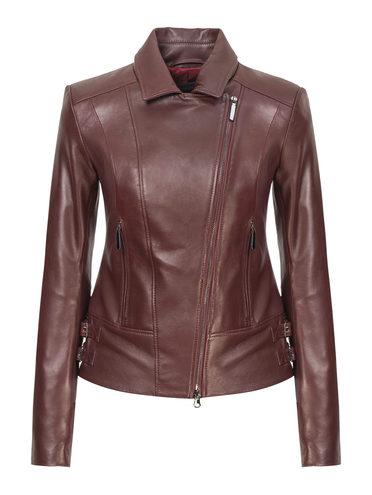 Кожаная куртка кожа, цвет бордо, арт. 04809199  - цена 8990 руб.  - магазин TOTOGROUP