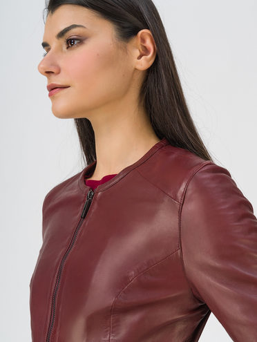 Кожаная куртка кожа, цвет бордо, арт. 04809203  - цена 9990 руб.  - магазин TOTOGROUP