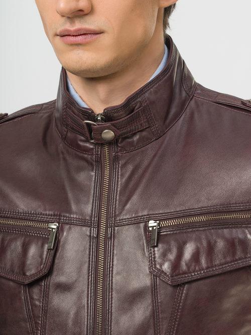 Кожаная куртка артикул 04809223/48 - фото 4