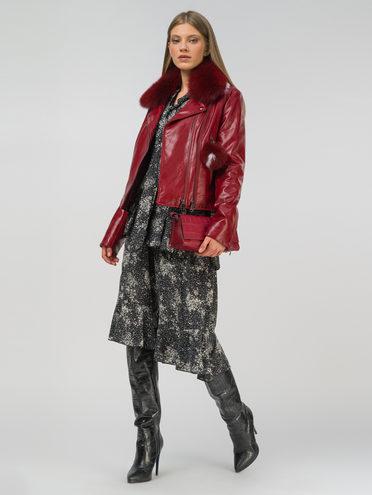 Кожаная куртка эко-кожа 100% П/А, цвет бордо, арт. 04809297  - цена 7990 руб.  - магазин TOTOGROUP
