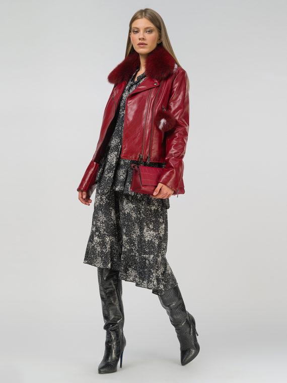Кожаная куртка эко-кожа 100% П/А, цвет бордо, арт. 04809297  - цена 10590 руб.  - магазин TOTOGROUP