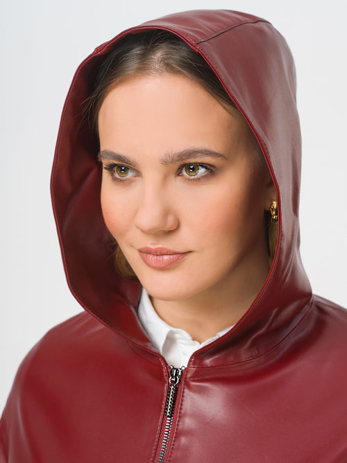 Кожаная куртка артикул 04809303/44 - фото 4
