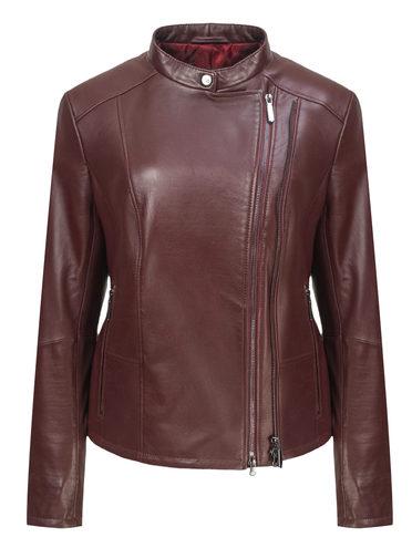 Кожаная куртка кожа, цвет бордо, арт. 04809847  - цена 11990 руб.  - магазин TOTOGROUP
