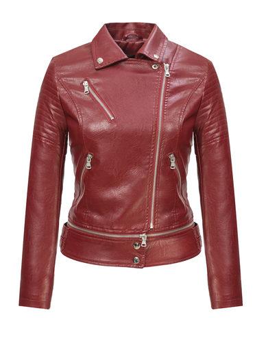 Кожаная куртка эко-кожа 100% П/А, цвет бордо, арт. 04809892  - цена 2990 руб.  - магазин TOTOGROUP