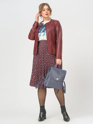 Кожаная куртка эко-кожа 100% П/А, цвет бордо, арт. 04809916  - цена 4990 руб.  - магазин TOTOGROUP