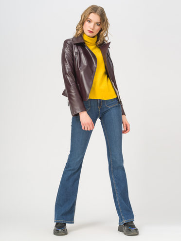 Кожаная куртка эко-кожа 100% П/А, цвет бордо, арт. 04809928  - цена 3990 руб.  - магазин TOTOGROUP