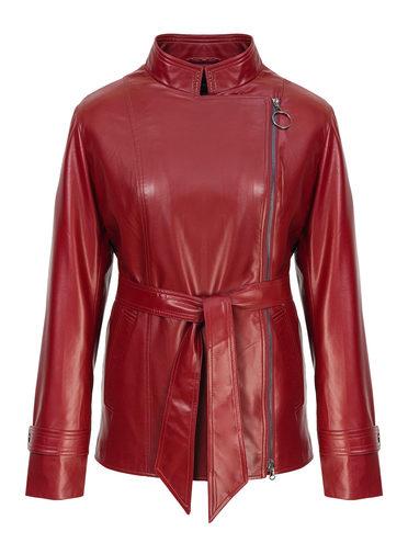 Кожаная куртка эко-кожа 100% П/А, цвет бордо, арт. 04810036  - цена 5890 руб.  - магазин TOTOGROUP