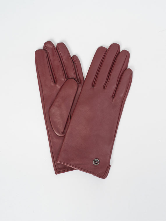 Перчатки кожа, цвет бордо, арт. 04810311  - цена 1190 руб.  - магазин TOTOGROUP