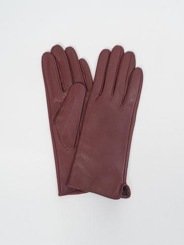 Перчатки кожа, цвет бордо, арт. 04810319  - цена 1410 руб.  - магазин TOTOGROUP