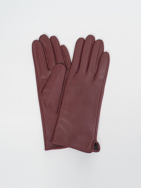 Перчатки кожа, цвет бордо, арт. 04810319  - цена 990 руб.  - магазин TOTOGROUP