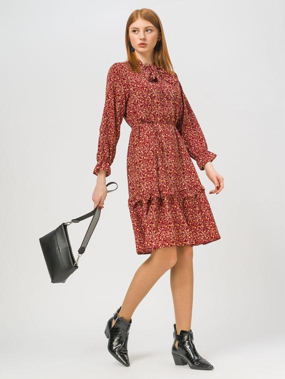 Платье 65% полиэстер, 35% хлопок, цвет бордо, арт. 04810335  - цена 990 руб.  - магазин TOTOGROUP