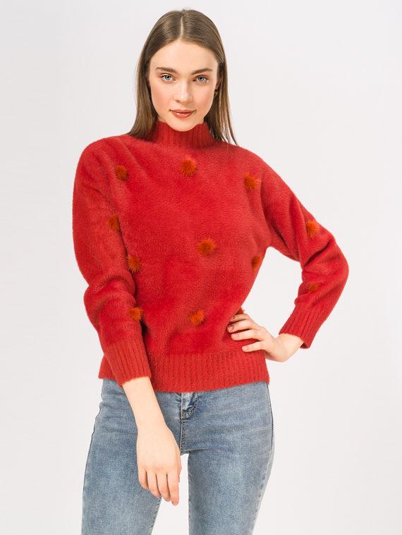 Джемпер 100% нейлон, цвет бордо, арт. 04810359  - цена 2060 руб.  - магазин TOTOGROUP