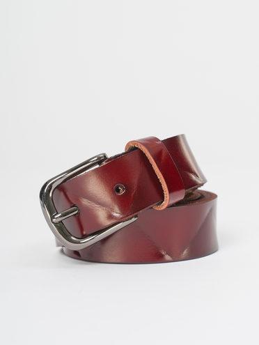 Ремень кожа теленок, цвет бордо, арт. 04810396  - цена 890 руб.  - магазин TOTOGROUP
