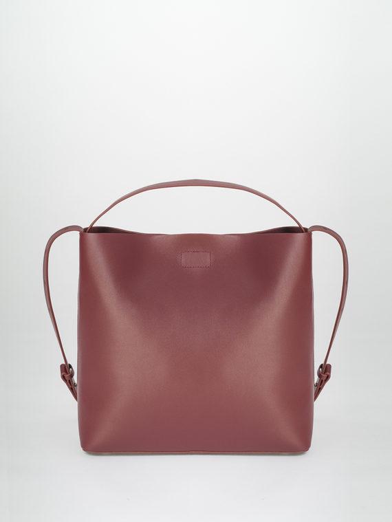 Сумка кожа теленок, цвет бордо, арт. 04810489  - цена 5890 руб.  - магазин TOTOGROUP