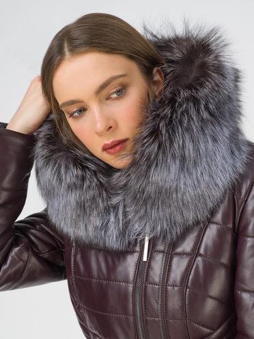 Кожаное пальто эко-кожа 100% П/А, цвет бордо, арт. 04810809  - цена 16990 руб.  - магазин TOTOGROUP