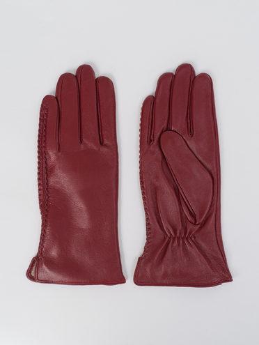 Перчатки кожа, цвет бордо, арт. 04811066  - цена 1750 руб.  - магазин TOTOGROUP