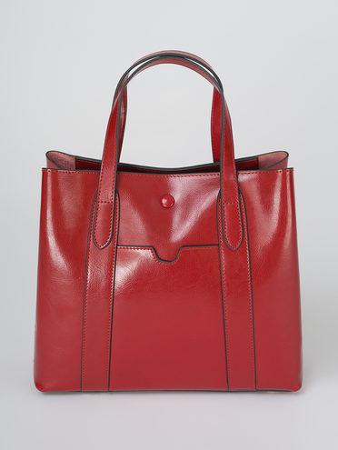 Сумка кожа теленок, цвет бордо, арт. 04811328  - цена 4740 руб.  - магазин TOTOGROUP