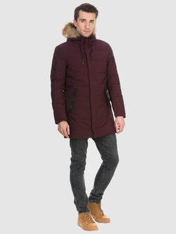 Пуховик текстиль, цвет бордо, арт. 04901022  - цена 8990 руб.  - магазин TOTOGROUP