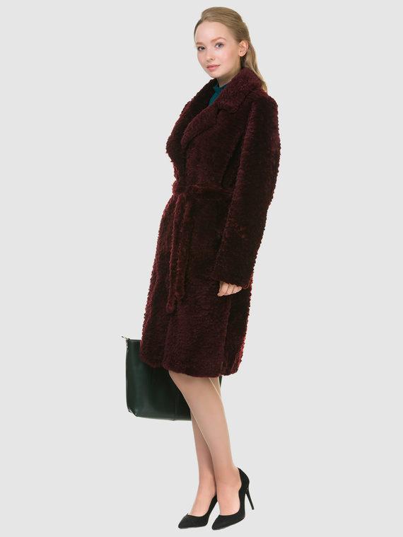 Шуба из мутона мех мутон, цвет бордо, арт. 04901147  - цена 25590 руб.  - магазин TOTOGROUP