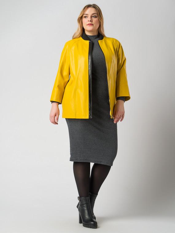 Кожаная куртка эко кожа 100% П/А, цвет желтый, арт. 05005886  - цена 6990 руб.  - магазин TOTOGROUP