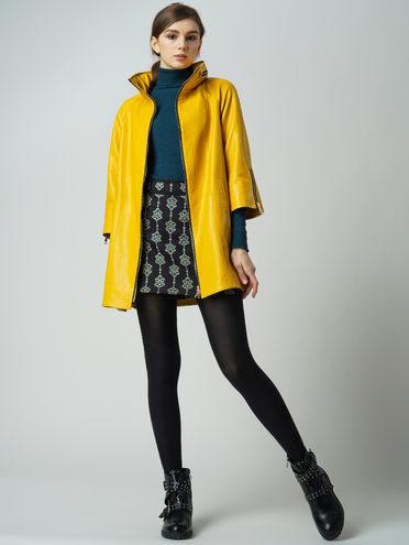 Кожаная куртка эко кожа 100% П/А, цвет желтый, арт. 05005889  - цена 7490 руб.  - магазин TOTOGROUP