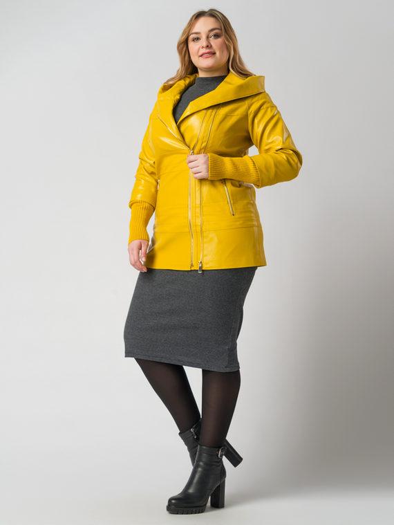 Кожаная куртка эко кожа 100% П/А, цвет желтый, арт. 05005931  - цена 6290 руб.  - магазин TOTOGROUP