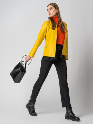 Кожаная куртка эко кожа 100% П/А, цвет желтый, арт. 05005978  - цена 4990 руб.  - магазин TOTOGROUP