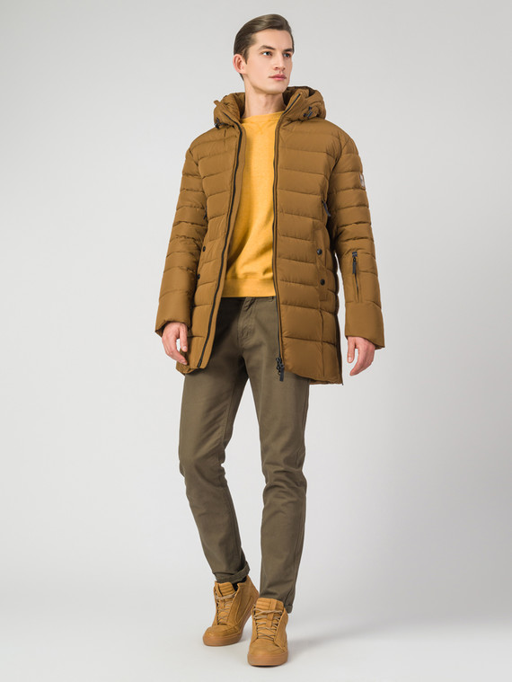Пуховик текстиль, цвет желтый, арт. 05007144  - цена 7990 руб.  - магазин TOTOGROUP