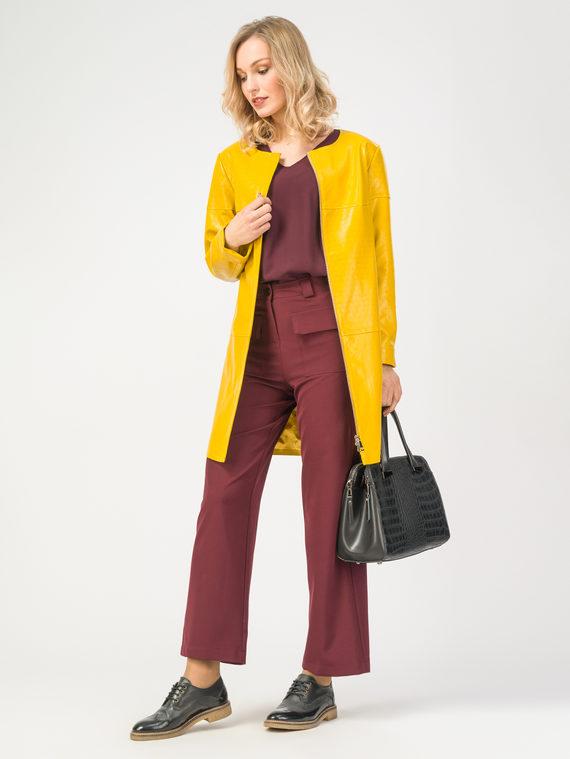 Кожаное пальто эко-кожа 100% П/А, цвет желтый, арт. 05108172  - цена 7490 руб.  - магазин TOTOGROUP