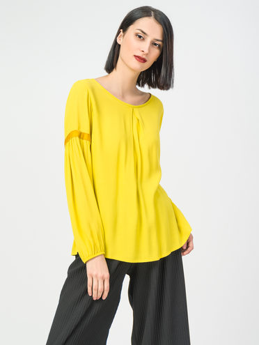 Блуза 100% вискоза, цвет желтый, арт. 05108319  - цена 490 руб.  - магазин TOTOGROUP
