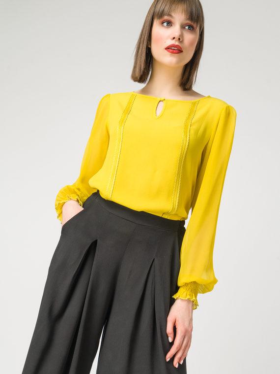 Блуза 100% вискоза, цвет желтый, арт. 05108327  - цена 2990 руб.  - магазин TOTOGROUP