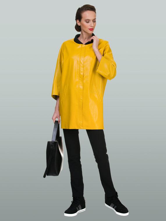 Кожаная куртка эко кожа 100% П/А, цвет желтый, арт. 05700448  - цена 3990 руб.  - магазин TOTOGROUP