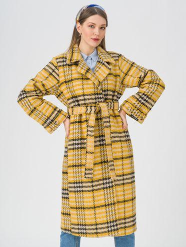Текстильное пальто 35% шерсть, 65% полиэстер, цвет желтый, арт. 05711391  - цена 3990 руб.  - магазин TOTOGROUP