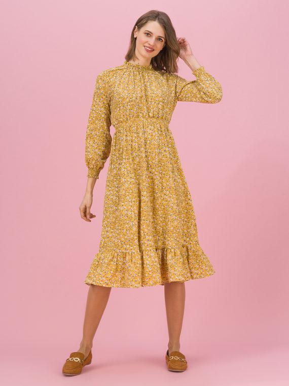 Платье 100% полиэстер, цвет желтый, арт. 05711684  - цена 990 руб.  - магазин TOTOGROUP