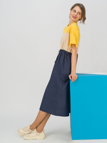 Женское платье 70% хлопок, 30% полиэстер, цвет желтый, арт. 05711709  - цена 1410 руб.  - магазин TOTOGROUP