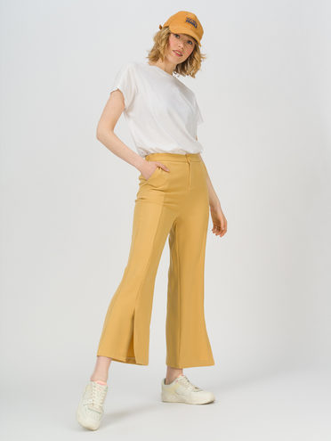 Брюки женские 95% полиэстер 5% эластан, цвет желтый, арт. 05711717  - цена 1490 руб.  - магазин TOTOGROUP
