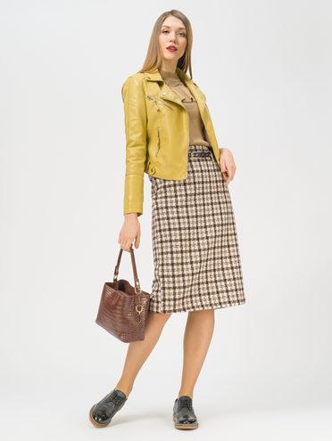 Кожаная куртка эко-кожа 100% П/А, цвет желтый, арт. 05809292  - цена 2990 руб.  - магазин TOTOGROUP