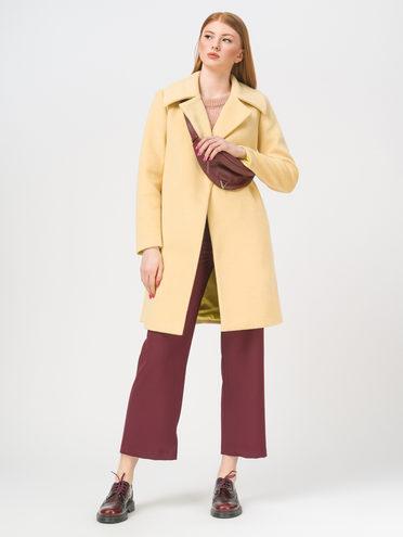 Текстильное пальто 50% п/э 30% шерсть 10% акрил 10% кашемир, цвет желтый, арт. 05809323  - цена 5890 руб.  - магазин TOTOGROUP