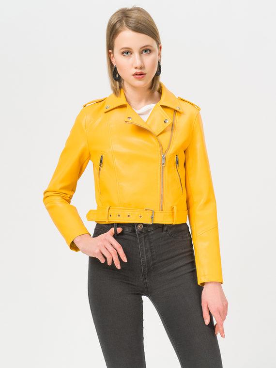 Кожаная куртка эко-кожа 100% П/А, цвет желтый, арт. 05809891  - цена 2990 руб.  - магазин TOTOGROUP