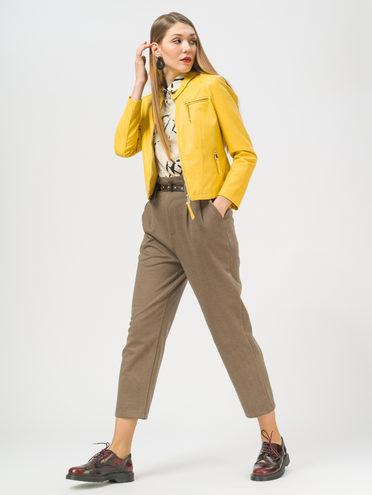 Кожаная куртка эко-кожа 100% П/А, цвет желтый, арт. 05810077  - цена 3990 руб.  - магазин TOTOGROUP
