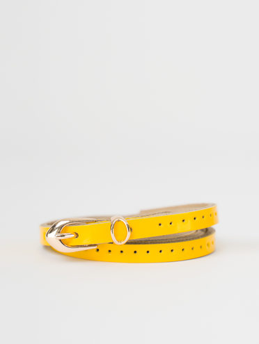 Ремень кожа теленок, цвет желтый, арт. 05810397  - цена 500 руб.  - магазин TOTOGROUP