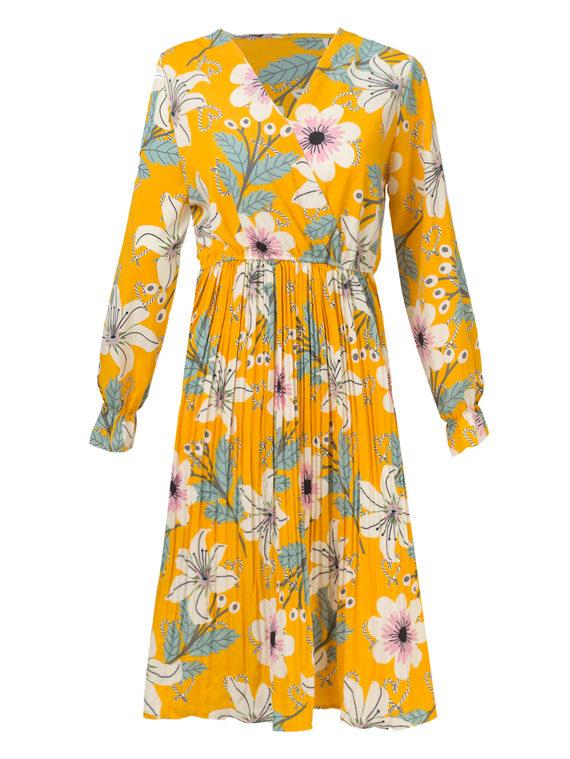 Платье , цвет желтый, арт. 05810545  - цена 1190 руб.  - магазин TOTOGROUP