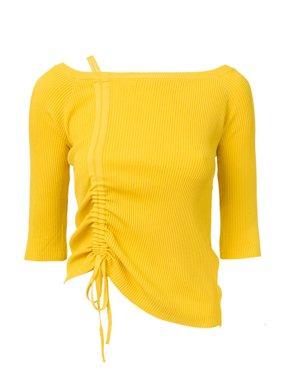 Джемпер 65%вискоза,35%нейлон, цвет желтый, арт. 05810548  - цена 990 руб.  - магазин TOTOGROUP