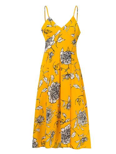 ПЛАТЬЕ 97%полиэстер, 3%эластан, цвет желтый, арт. 05810555  - цена 790 руб.  - магазин TOTOGROUP