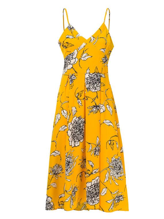 Платье 97%полиэстер, 3%эластан, цвет желтый, арт. 05810555  - цена 990 руб.  - магазин TOTOGROUP