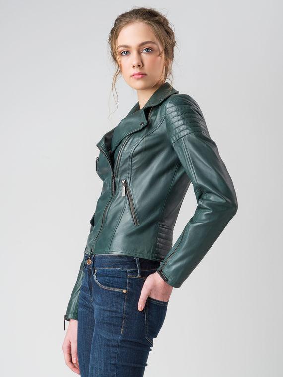 Кожаная куртка кожа , цвет зеленый, арт. 06005510  - цена 8990 руб.  - магазин TOTOGROUP