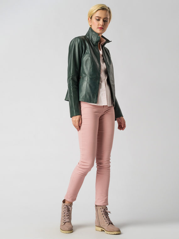 Кожаная куртка кожа , цвет зеленый, арт. 06005513  - цена 9490 руб.  - магазин TOTOGROUP
